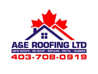 A&E Roofing ltd logo design