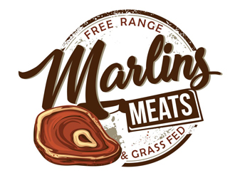 Marlins Meats logo design