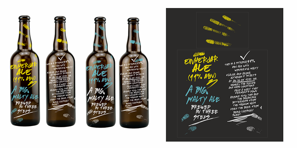 Design of the Beer Bottle logo design