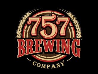 757 Brewing Company logo design