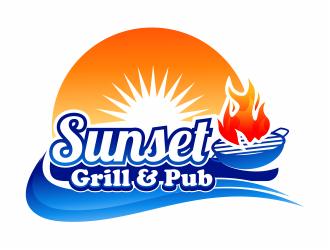 Sunset Grill & Pub logo design
