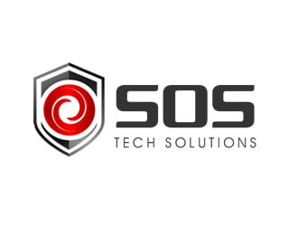 SOS Tech Solutions logo design