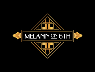 Melanin On 6th logo design