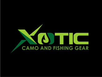 Xotic Camo and Fishing Gear logo design