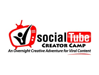 YourTube Creator Camp (tageline) An Overnight Creative Adventure for Viral Content logo design