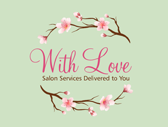 With Love - Salon Services Delivered to You logo design