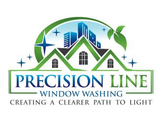 Precision Line Window Washing logo design