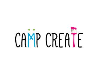 Camp Create logo design