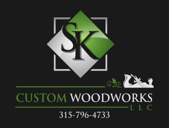 SK Custom Woodworks LLC logo design