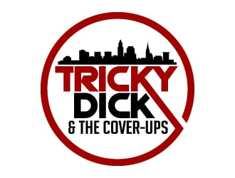 Tricky Dick & the Cover-Ups logo design