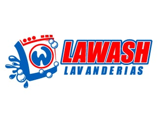 LW LAWASH LAVANDERIAS logo design