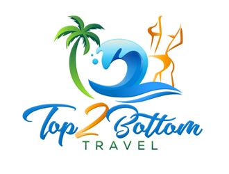 Top 2 Bottom Travel logo design