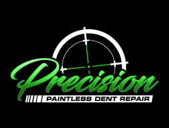 Precision Paintless Dent Repair logo design