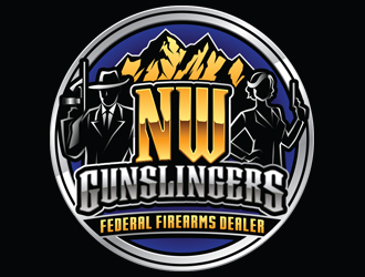 NW Gunslingers | Federal Firearms Dealer logo design