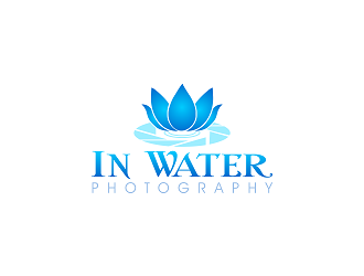 in water photography logo design
