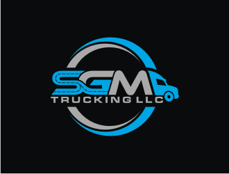 SGM Trucking LLC logo design
