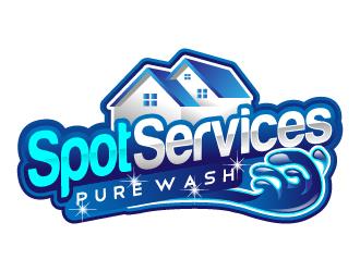Spot Services.   (next line) Pro Wash logo design