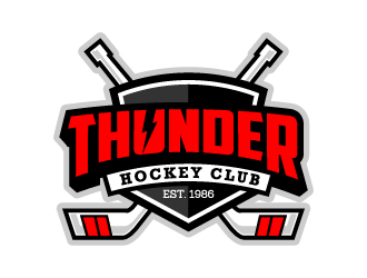 Thunder Hockey Club.....EST. 1986 logo design