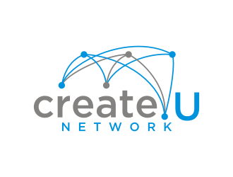 Create U Network logo design