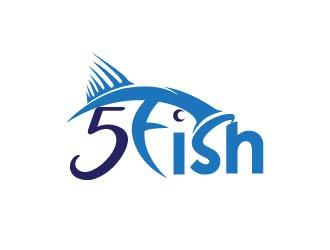 5 Fish logo design