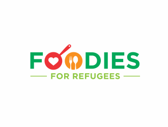 Foodies for Refugees logo design