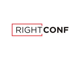 RightConf logo design