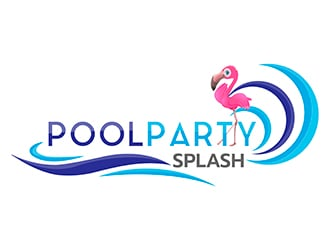 Poolparty Splash logo design