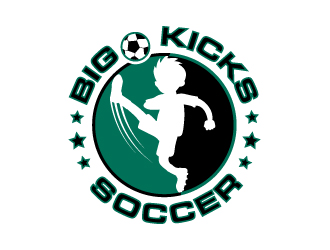 Big Kicks Soccer logo design
