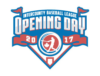 Intercounty Baseball League Opening Day Logo logo design