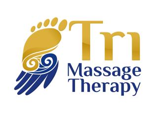 Tri Massage Therapy logo design