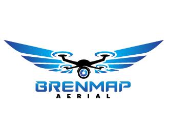 BRENMAP AERIAL logo design