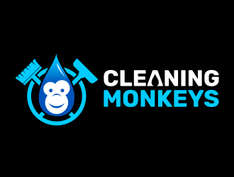 Cleaning Monkeys logo design