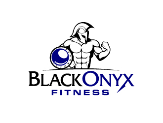 Black Onyn Fitness logo design