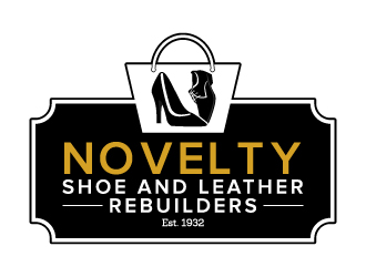 Novelty Shoe and Leather Repairs logo design