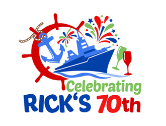 Celebrating Rick's 70th logo design
