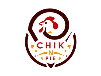 Chick N Pie logo design