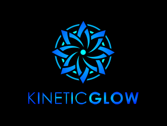 KineticGlow logo design