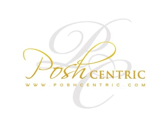 Posh Centric  www.poshcentric.com logo design