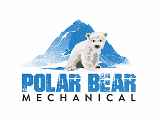 Polar Bear Mechanical logo design