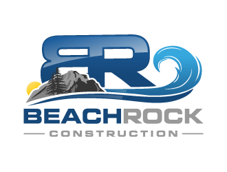 Beachrock Construction logo design