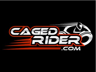 Caged Rider logo design