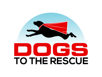 DOGS TO THE RESCUE logo design