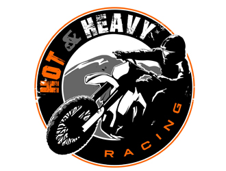 Hot & Heavy Racing logo design