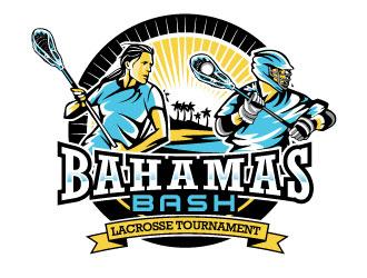 Bahamas Bash Lacrosse Tournament logo design