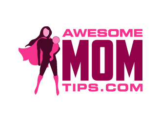 Awesome Mom Tips.com logo design