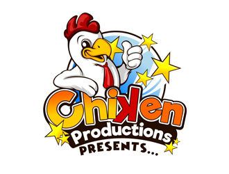 Chiken Productions, presents... logo design