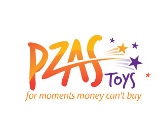 "Pzas toys (Tagline - ""for moments money can't buy) logo design"