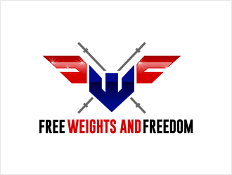Free Weights and Freedom logo design
