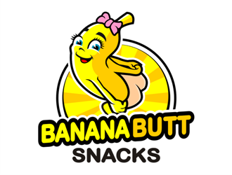 Banana Butt Snacks logo design