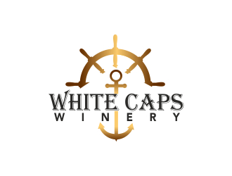 White Caps Winery logo design